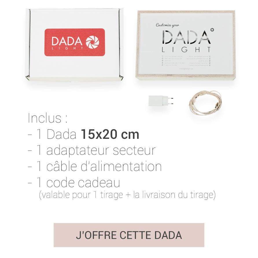 Coffret Cadeaux 15x15 (DADABOX + 1 tirage)