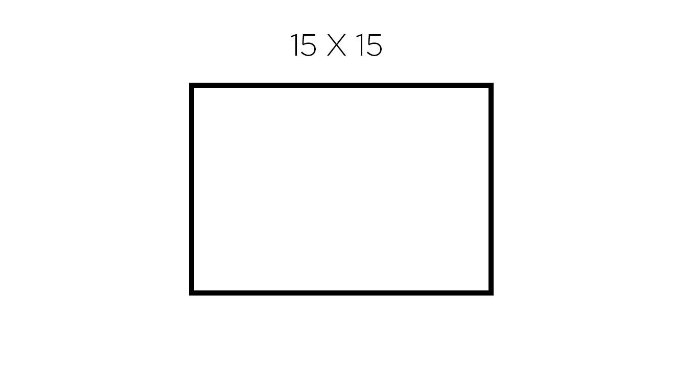 15 x 15 cm