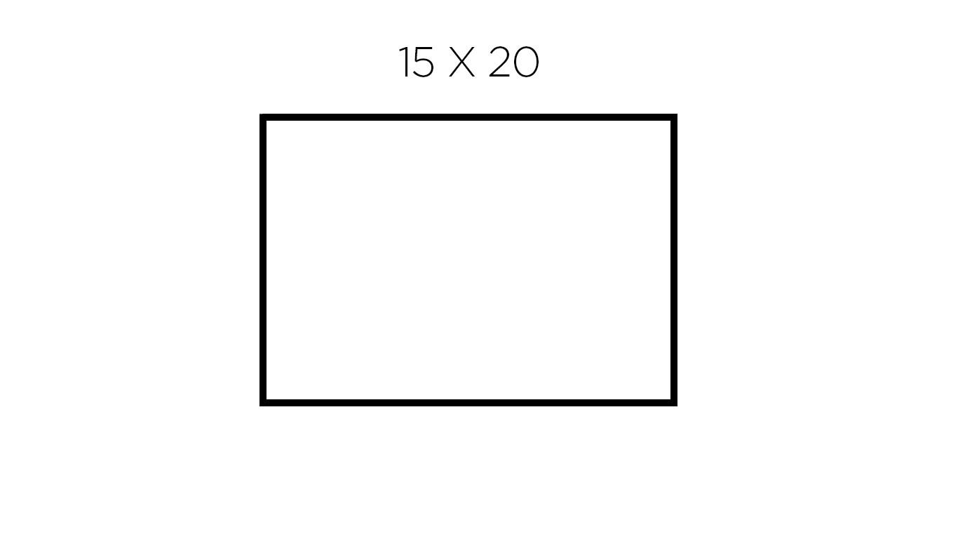 15 x 20 cm