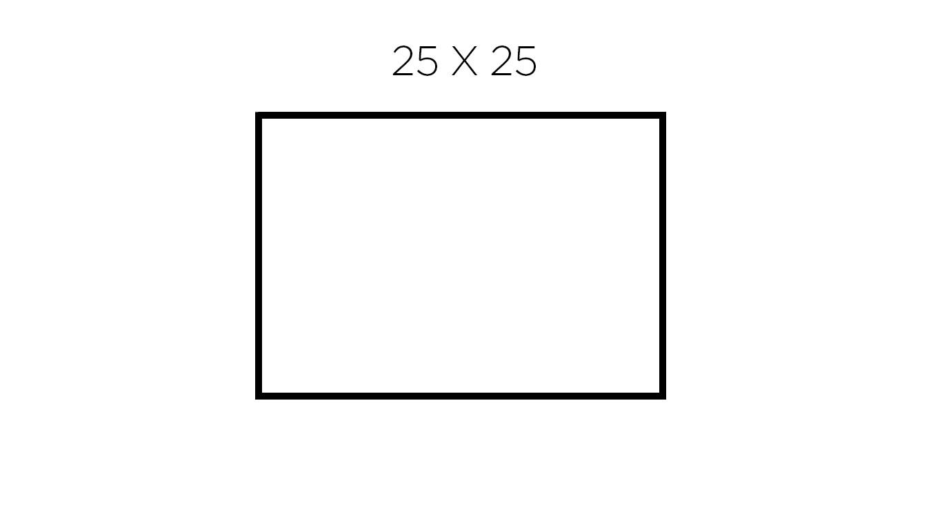 25 x 25 cm