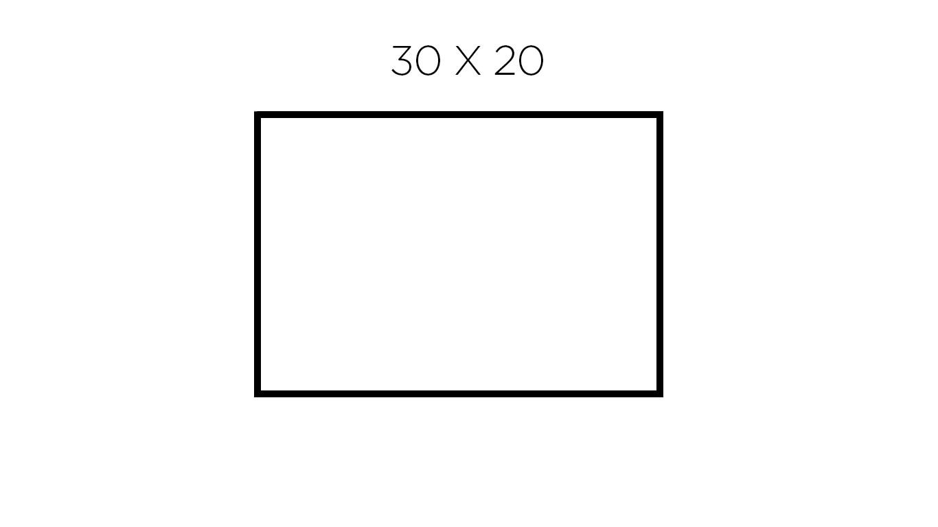 30 x 20 cm