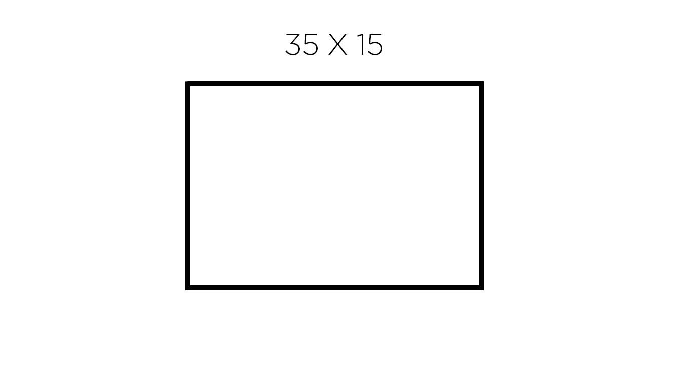35 x 15 cm